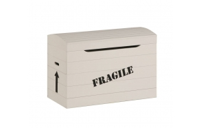 "Toy box ""Fragile"", beige"