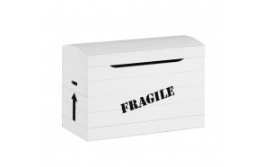 "Toy box ""Fragile"", white"
