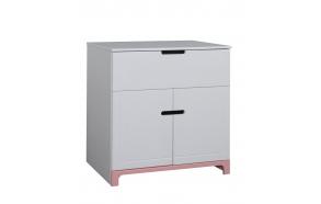 Mini - 2-door chest, white+pink