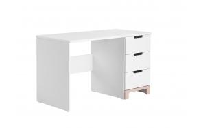 kirjutuslaud Mini, valge+roosa