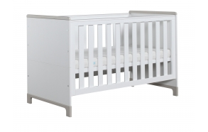 Mini - cot-bed 140x70, white+grey