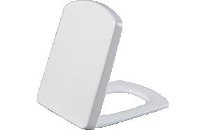 WING aeglaselt sulguv (soft close) iste, valge, metallhinged