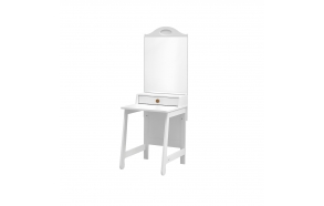 Parole - dressing table, white+brown