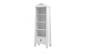 Parole – bookcase, white+brown