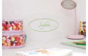 Parole - small name plate, white+green