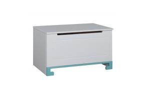 ToTo - toy box,white+turquoise