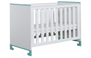 ToTo - cot 120x60,white+turquoise