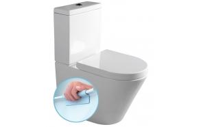 rimless wc kompakt Pako, universaalne trapp, 2-süsteemne, komplektis soft close iste (osad: 1,2)