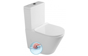 rimless wc set Pako, universal trap, dual flush, soft close seat included (parts: 1,2)