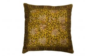 Pillow Indian Block '50 Yellow