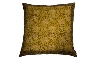 Pillow Indian Block '70 Yellow