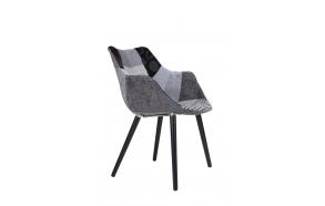 käetugedega tool Twelve, hall patchwork