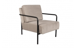 Lounge Chair X-Bang Black/ Light Grey