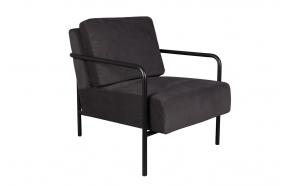 Lounge Chair X-Bang Black/ Dark Grey