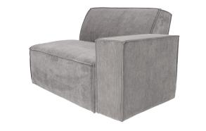 Element Sofa James Arm Right Rib Cool Grey