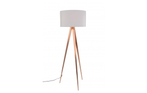 Floor Lamp Tripod Copper White