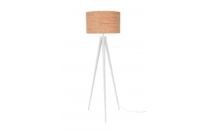Floor Lamp Tripod Cork White