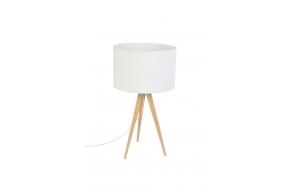 Table Lamp Tripod Wood White