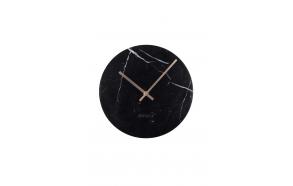 Clock Marble Time Black