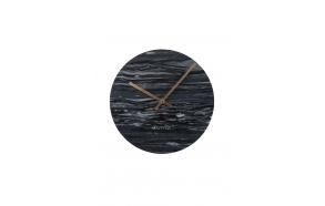 Clock Marble Time Grey