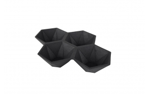 Tray Hexagon Black
