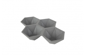 Tray Hexagon Grey
