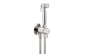 retro shut-off bidet/shower kit with cold water mixer valve, flexible 120 cm hose