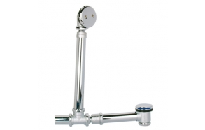 metal drain with click clack for bath with overflow
