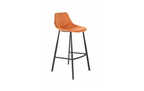 Barstool Franky Velvet Orange