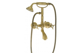 BATH MIXER KING WITH SHOWER KIT OLD BRONZE