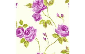 "WALLPAPER ""ROMANCE FEATURE PINK/GREEN"""