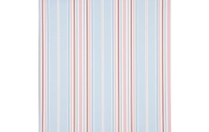 Floral Bouquet Stripe, Antique Blue/Pink