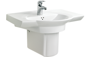 WING 67 CM TOP COUNTER W.BASIN WHITE