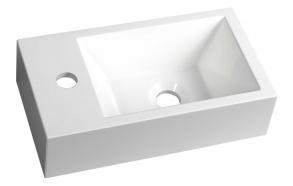 cast marble basin Amarok, 40x22 cm, faucet on left