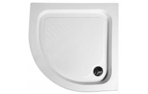 Quadrant Acrylic Shower Tray 80x80x15cm, drain included