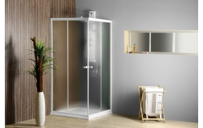 ALAN Square Shower Enclosure, 900x900x1850 mm, glass BRICK
