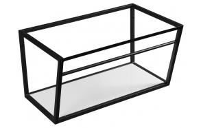 SKA construction under washbasin 750 mm black mat, with white MDF Shelf