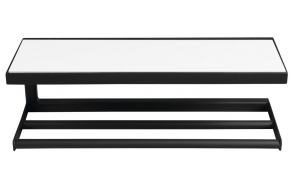 SKA Wall Shelf, black mat, with white MDF Shelf