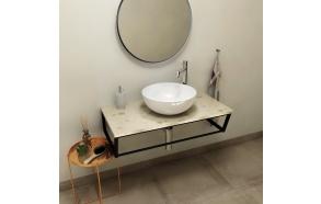SKA Countertop 90x2x46 cm, technical marble, Aurora