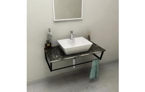 SKA Countertop 90x2x46 cm, technical marble, Grigio Carnico