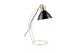 Desk Lamp Curly Black