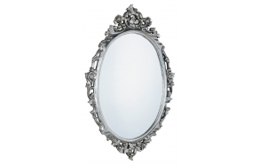 Desna mirror with frame,80x100 cm, Silver Antique