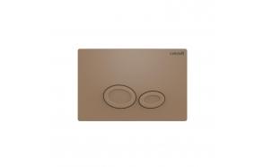 Creavit Drop flush plate, cappucino