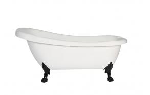 retro bathtub Susanna, black feet, plastic drain included