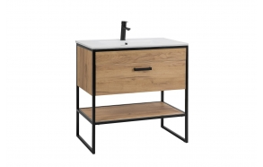 cabinet Manhattan 80 cm, without sink (in 2 boxes)