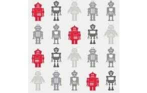 Hoopla Robots SidewallGrey