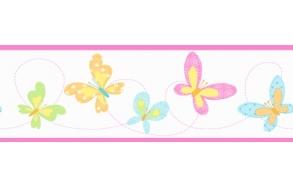 Hoopla Butterfly Border Pink
