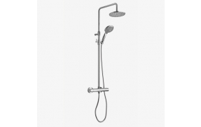 FIMA exposed rain shower set with thermostatic mixer