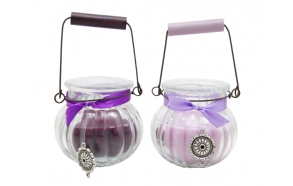 Scented candle Blueberry in glass
