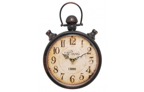 Iron table clock Paris hrono, 20x29.5x4.5cm